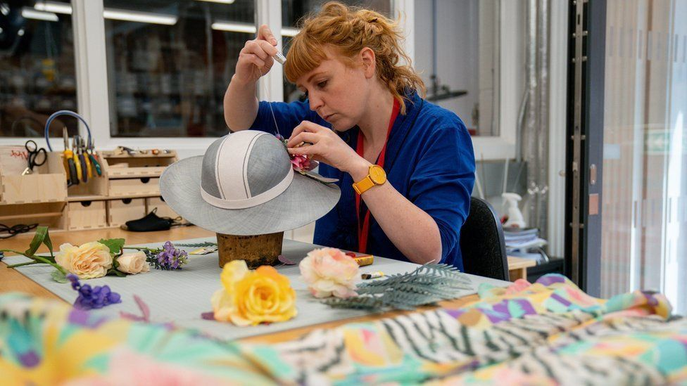 Head of theatrical millinery and jewellery Alexandra Thompson