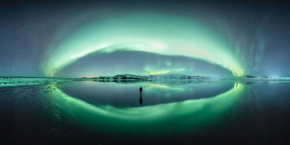 An astronomy image entitled Iceland Vortex by Larryn Rae showing Aurora Borealis in Iceland