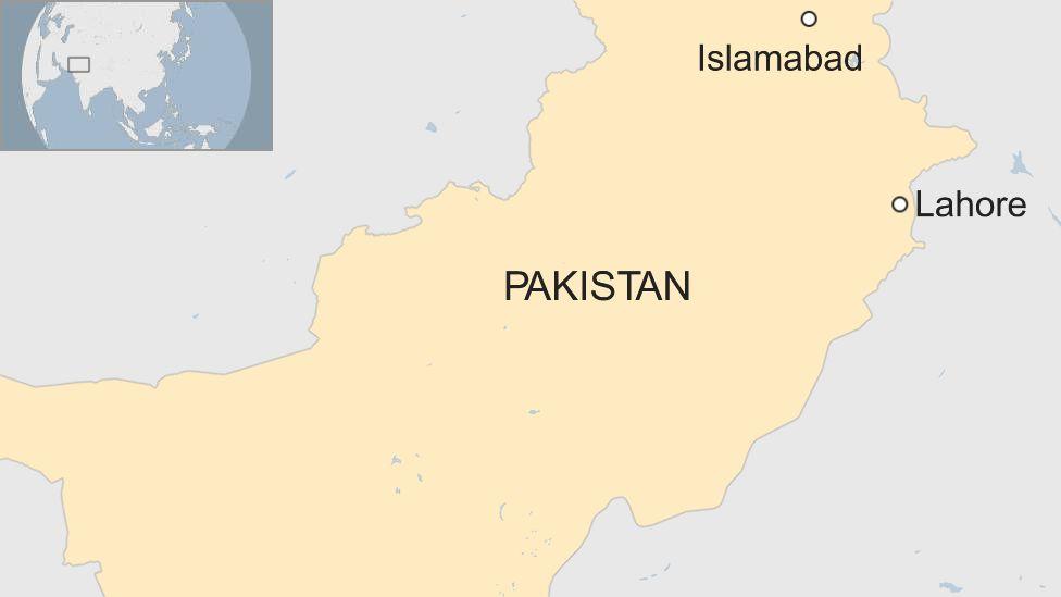 BBC map showing Pakistan