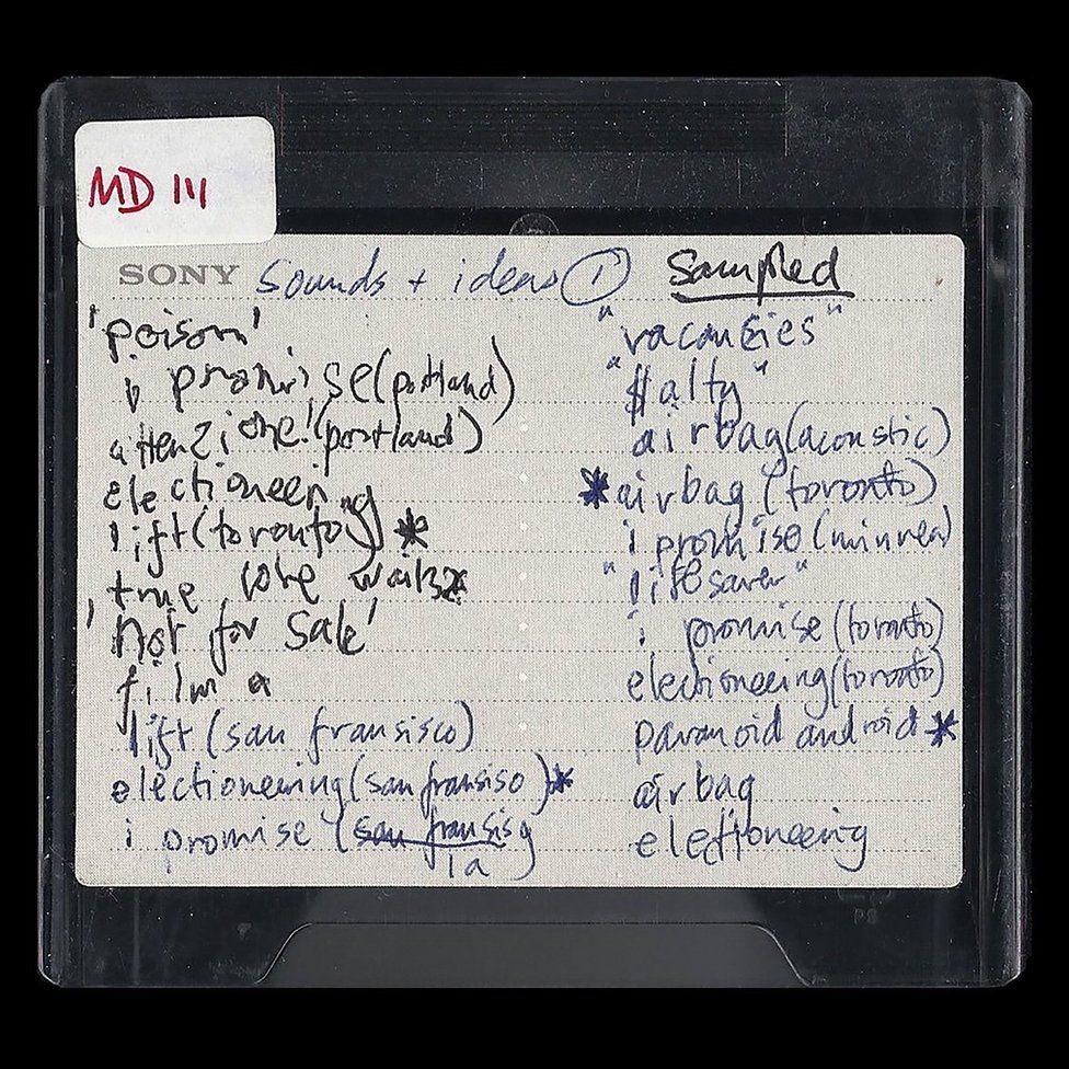 Radiohead's minidisc