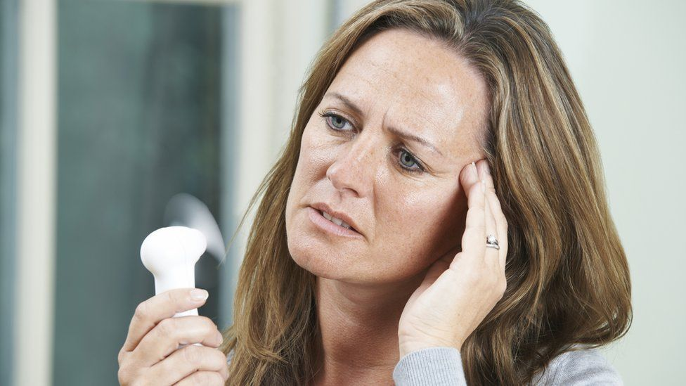 Hot flushes are a common symptom in the run-up to the menopause