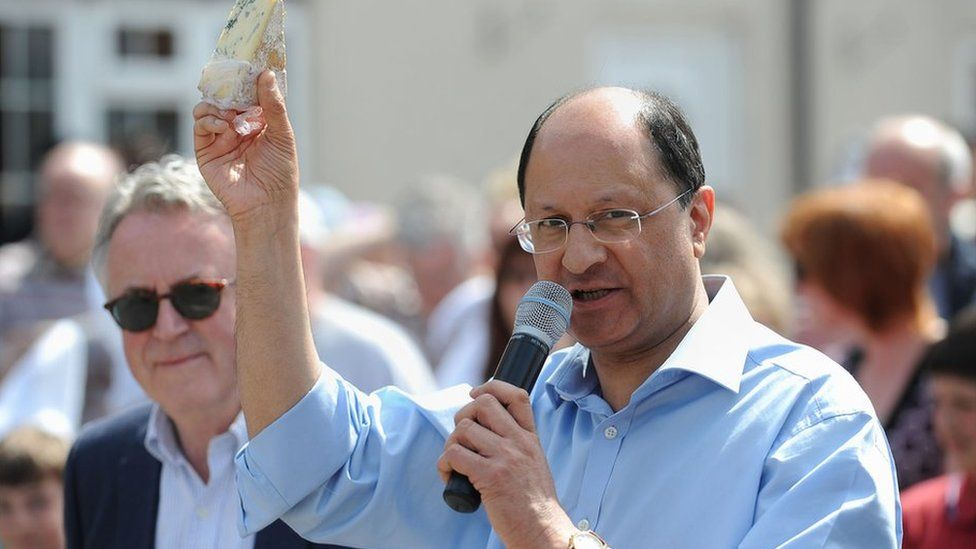 MP Shailesh Vara with some Stilton cheese