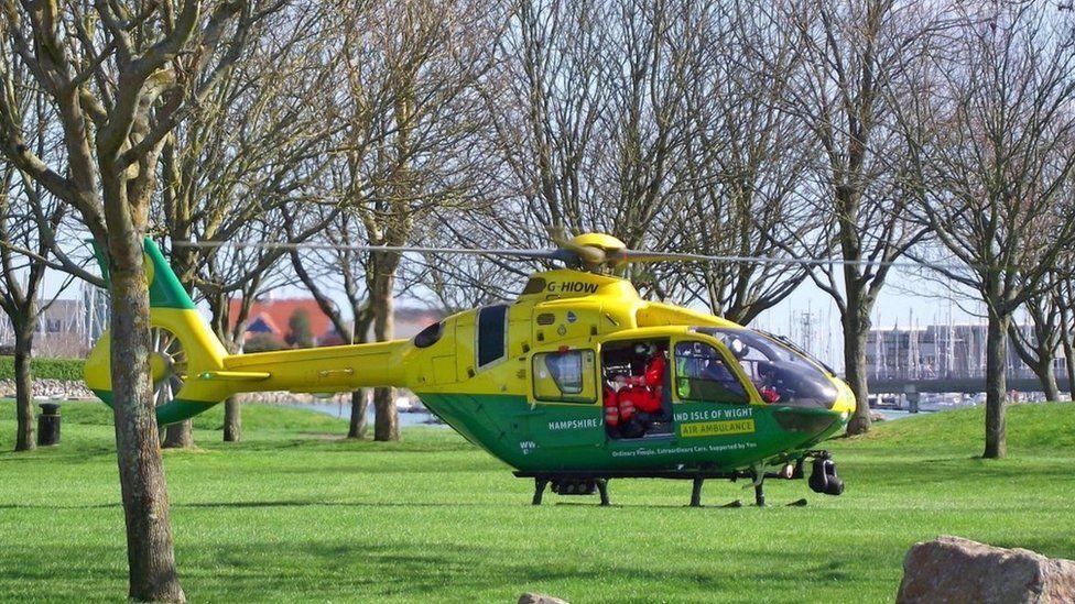 Hampshire & Isle of Wight Air Ambulance in Walpole Park