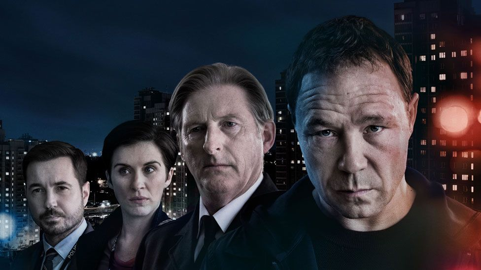 Martin Compston, Vicky McClure, Adrian Dunbar and Stephen Graham in Line of Duty