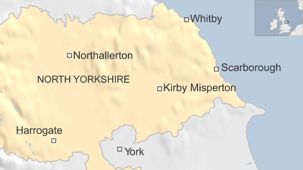 North Yorkshire map