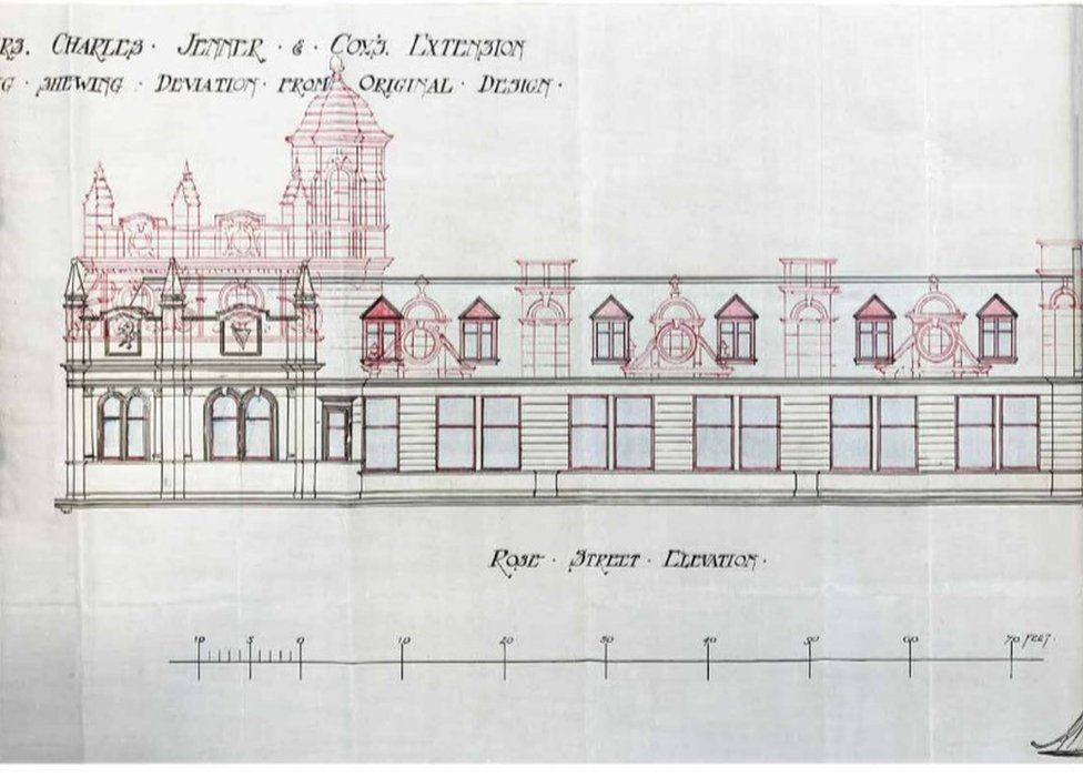 Plans for the 1903 extension