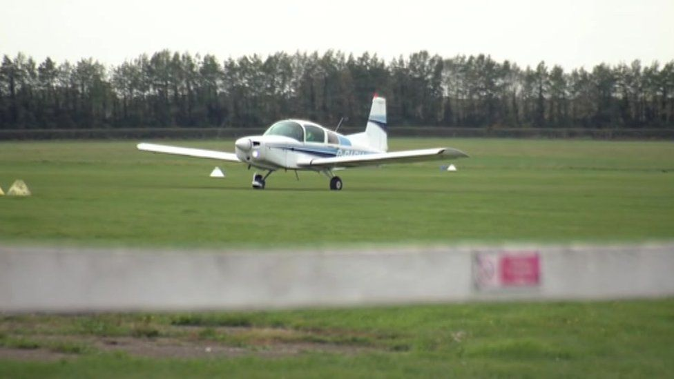 Plane at airfield