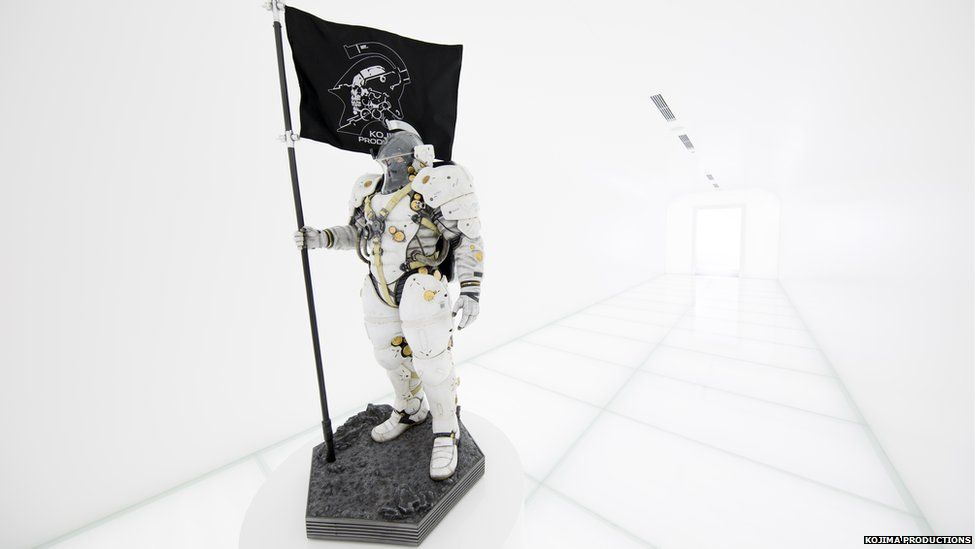 The science fiction inspired hallway into the Kojima Productions Studio