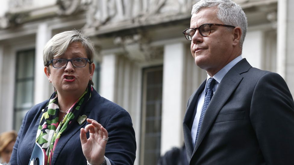 Joanna Cherry and Jolyon Maugham outside the Supreme Court in September 2019