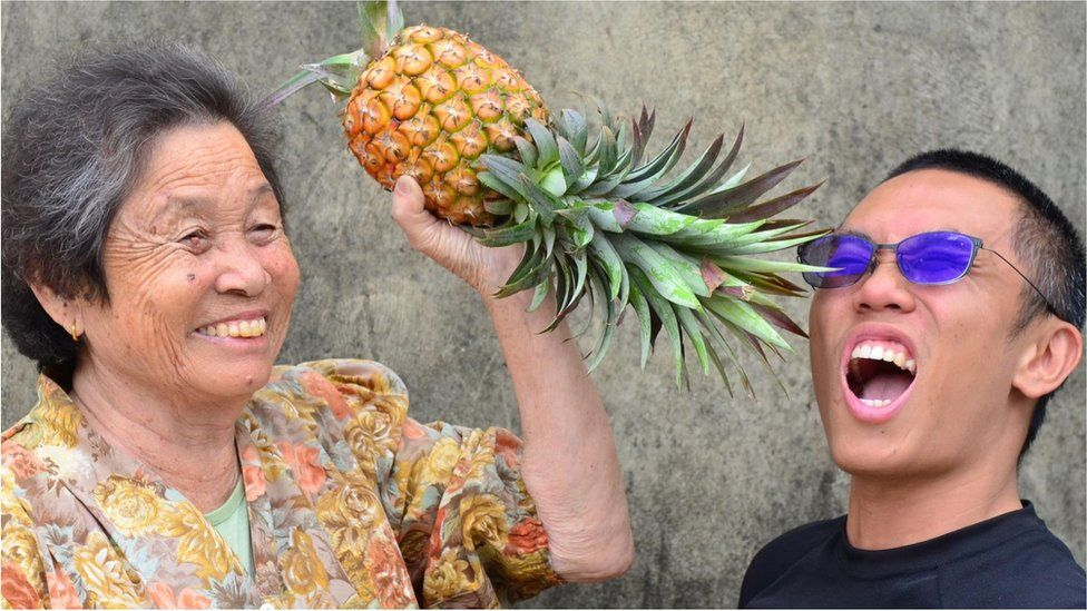Yang Yufan, a well-known organic pineapple grower from Southern Taiwan