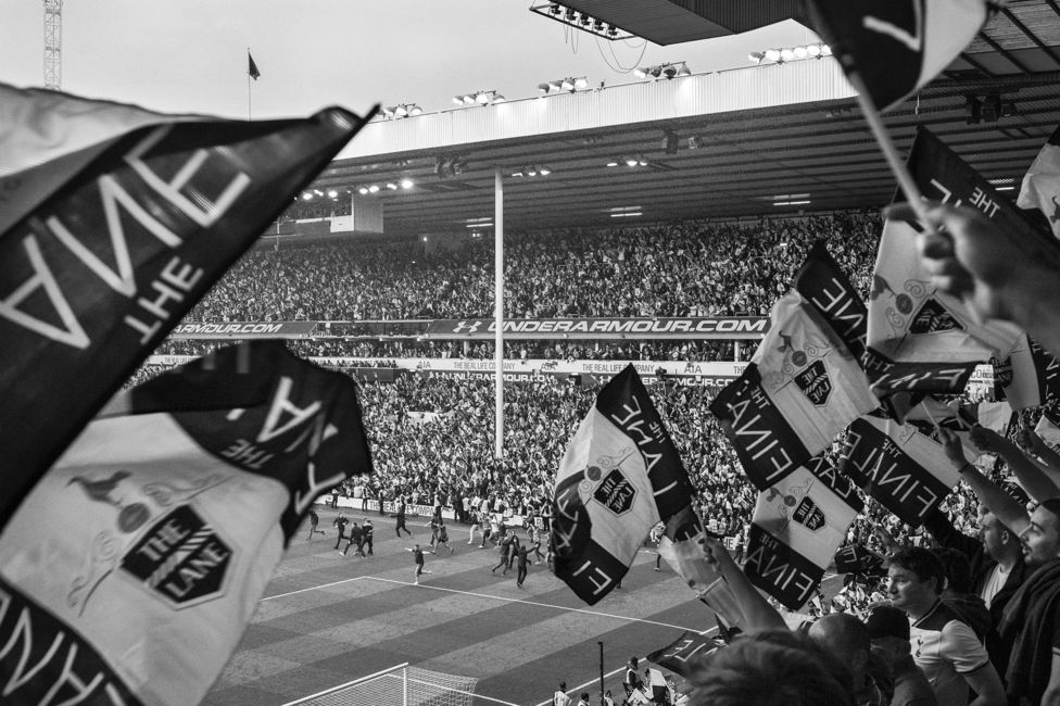 Spurs fans during the last match at White Hart Lane