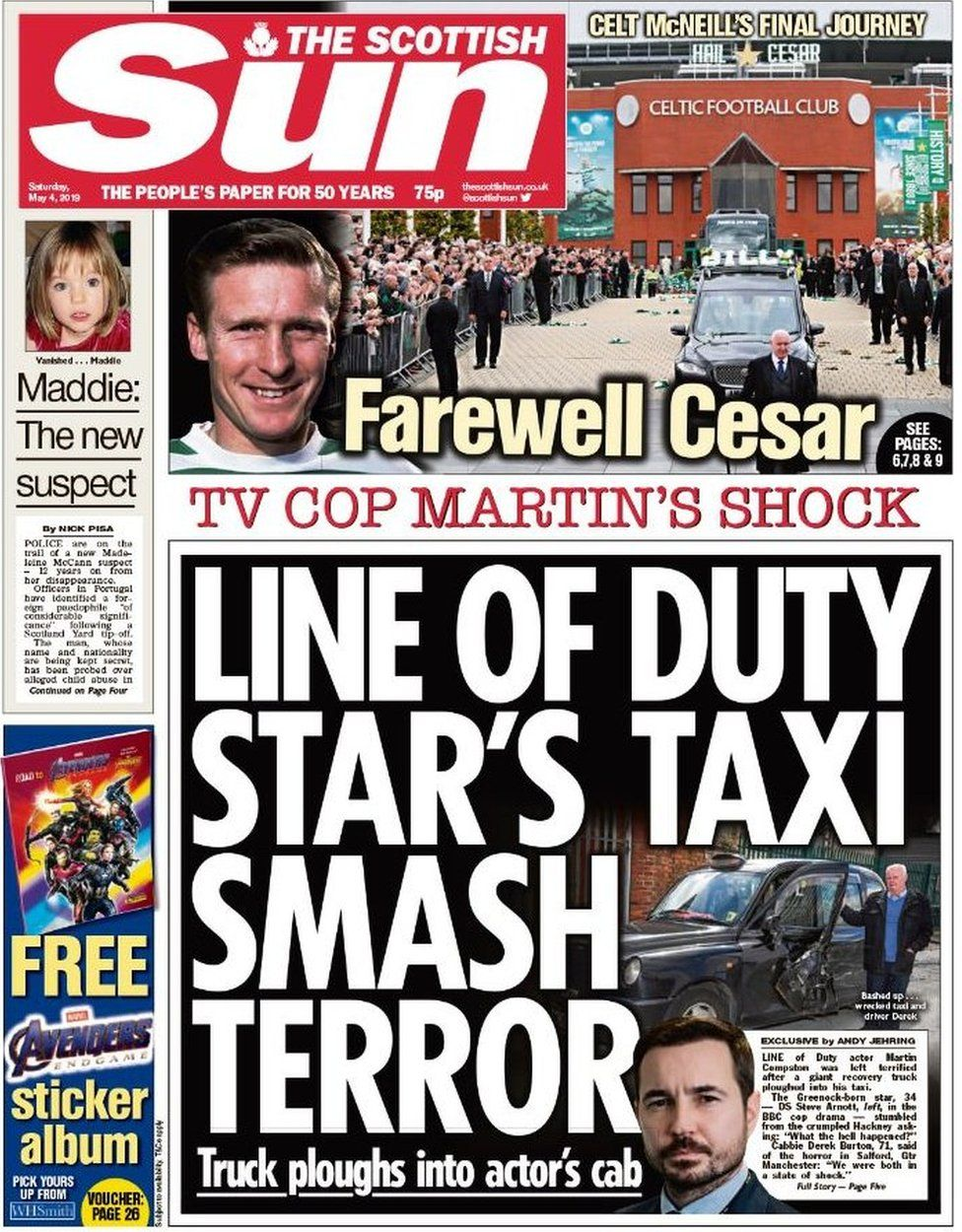 Scotland's papers: Line of Duty star's crash and indy polling - BBC News