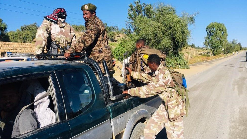Tigray special forces in federal military uniforms