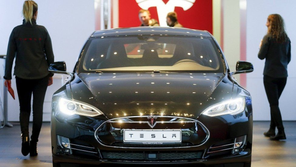 California-based company Tesla makes electric cars