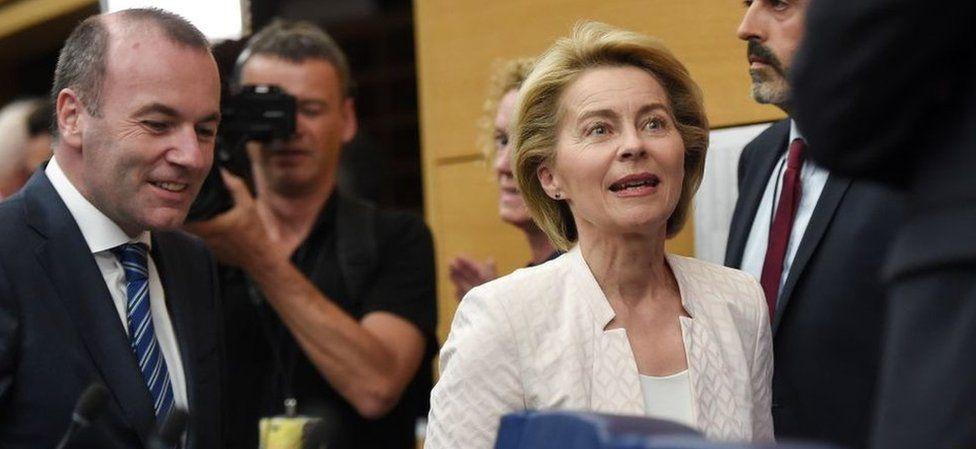 Ursula von der Leyen at EU parliament