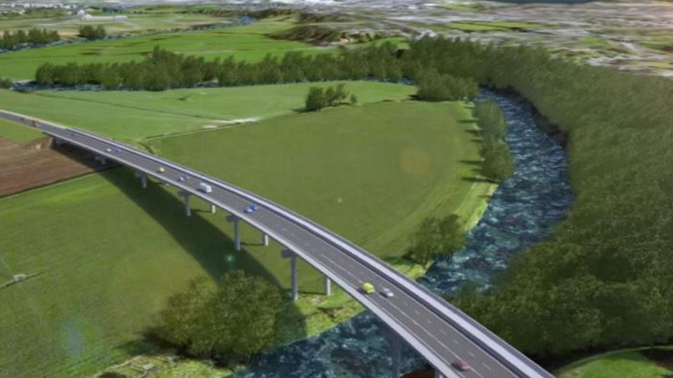 Artist's impression of how the road could look