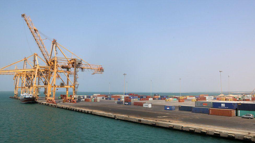 Rebel-held port of Hudaydah, Yemen (7 November 2017)