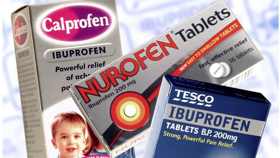 Different packets of Ibuprofen