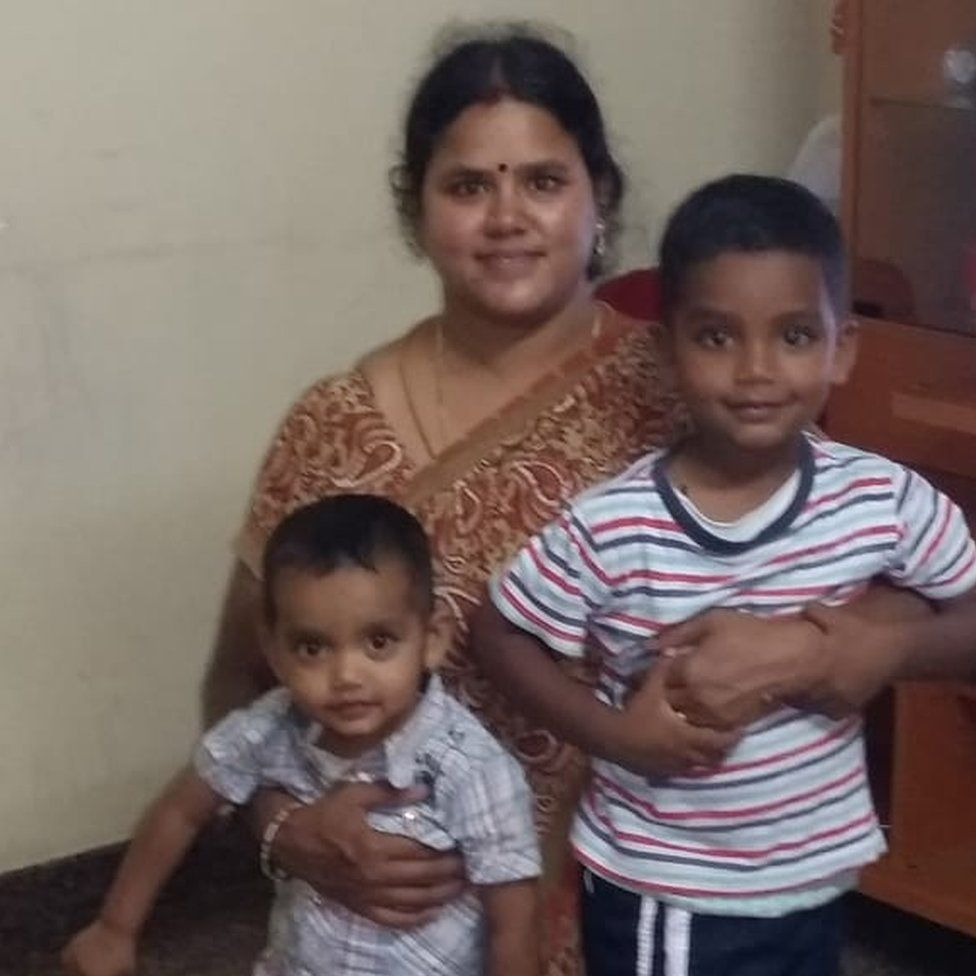 Mary Jayaseelan with her two sons