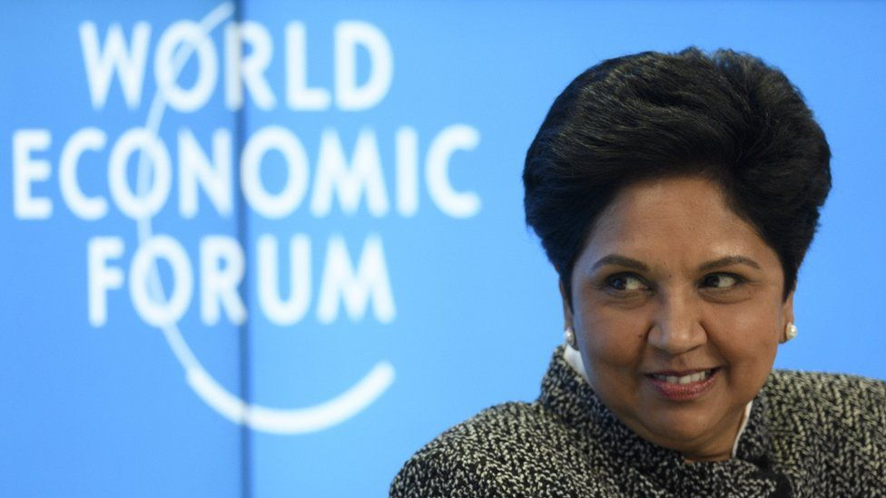 Indra Nooyi, PepsiCo Chairman and Chief Executive Officer, looks on during the opening day of the 48th annual meeting of the World Economic Forum, WEF, in Davos, Switzerland, 23 January 2018
