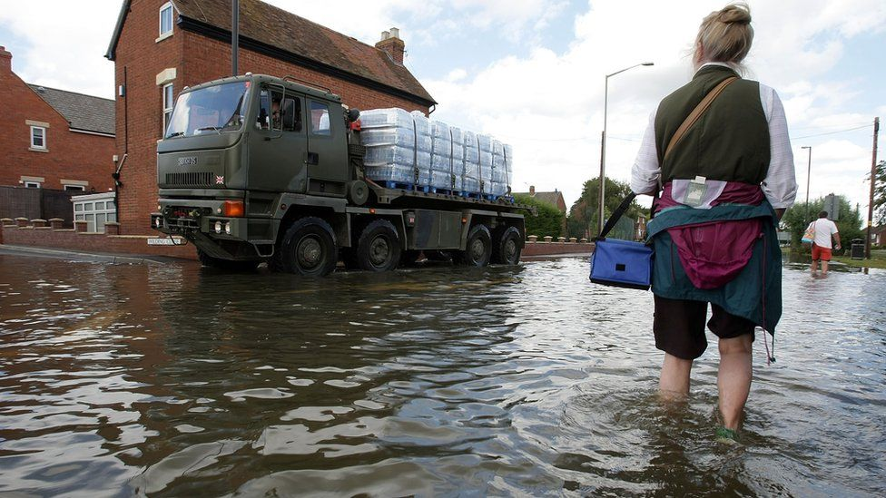 The Army in Tewkesbury