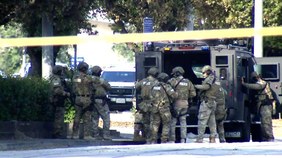 Swat teams were called