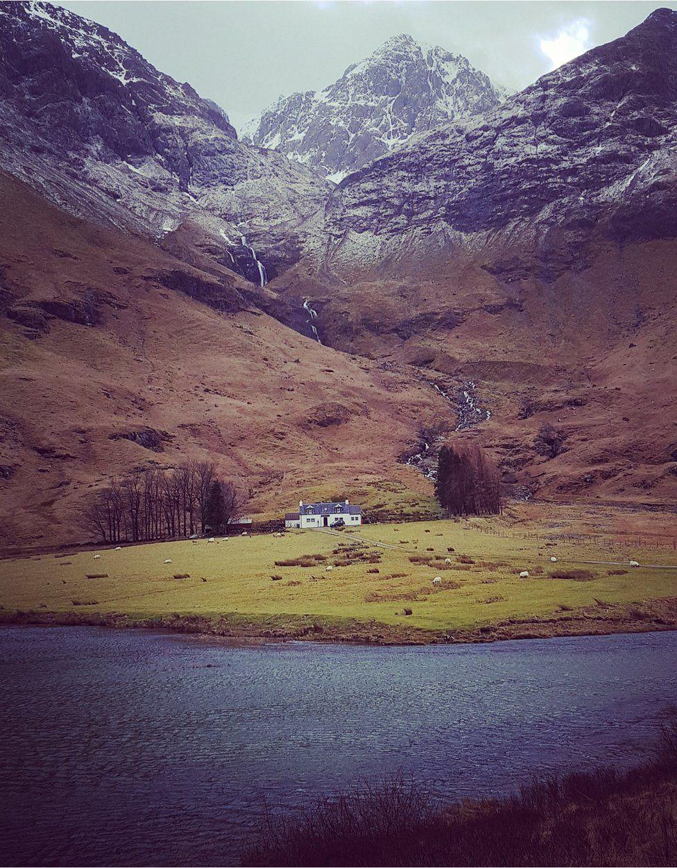 Loch Achtriochtan at Glen Coe.