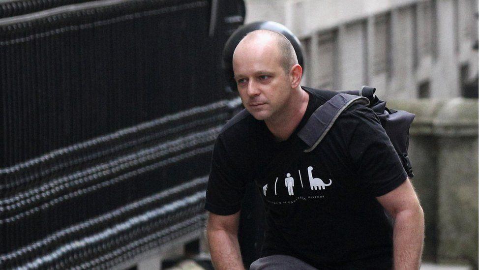 Steve Hilton entering Downing Street when he was advisor to David Cameron