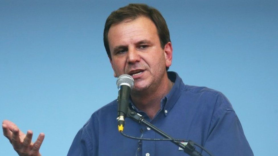 Rio de Janeiro Mayor Eduardo Paes speaks during an event inaugurating a new subway station (30 July 2016)