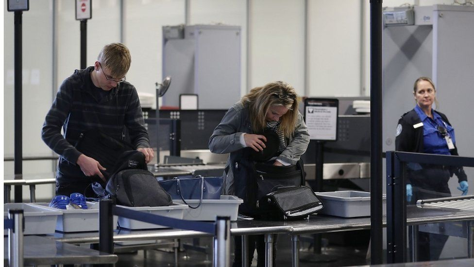 Airport security check, generic picture