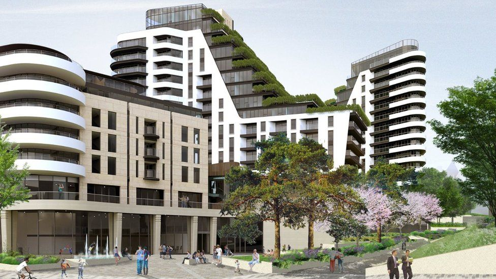 An artist's impression of the £150m planned complex