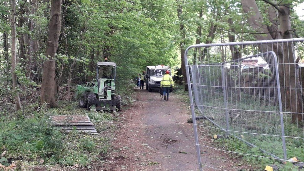 work at Marlhill Copse. LDRS filed pic on 11 May