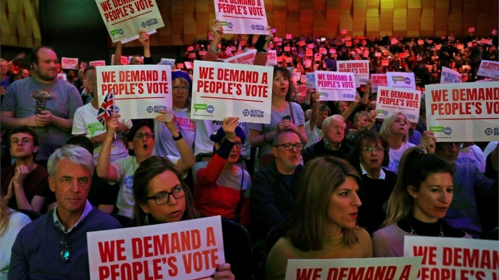"""""""People's Vote"""" campaigners gather in London"""