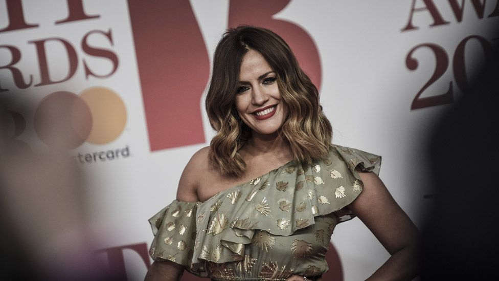 Caroline Flack at the Brit Awards 2018