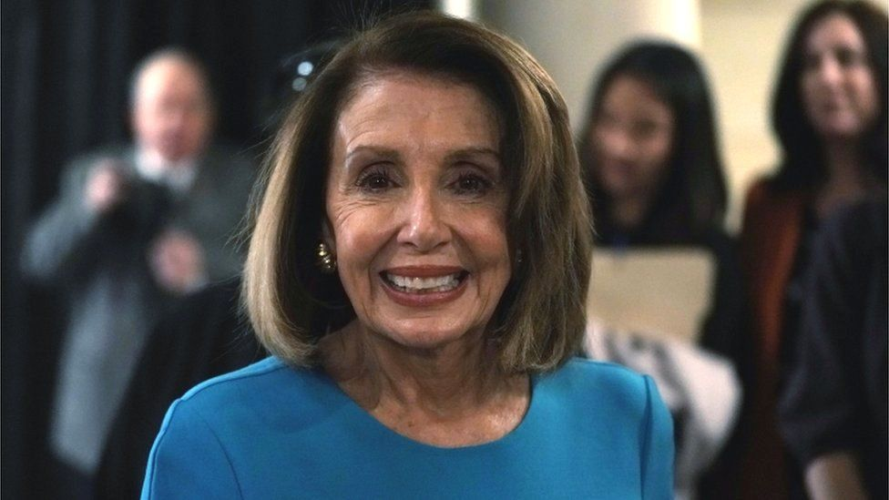 U.S. House Minority Leader Rep. Nancy Pelosi (D-CA) leaves after a session of House Democrats organizational meeting to elect leadership at the Capitol Visitor Center Auditorium November 28, 2018 in Washington, DC