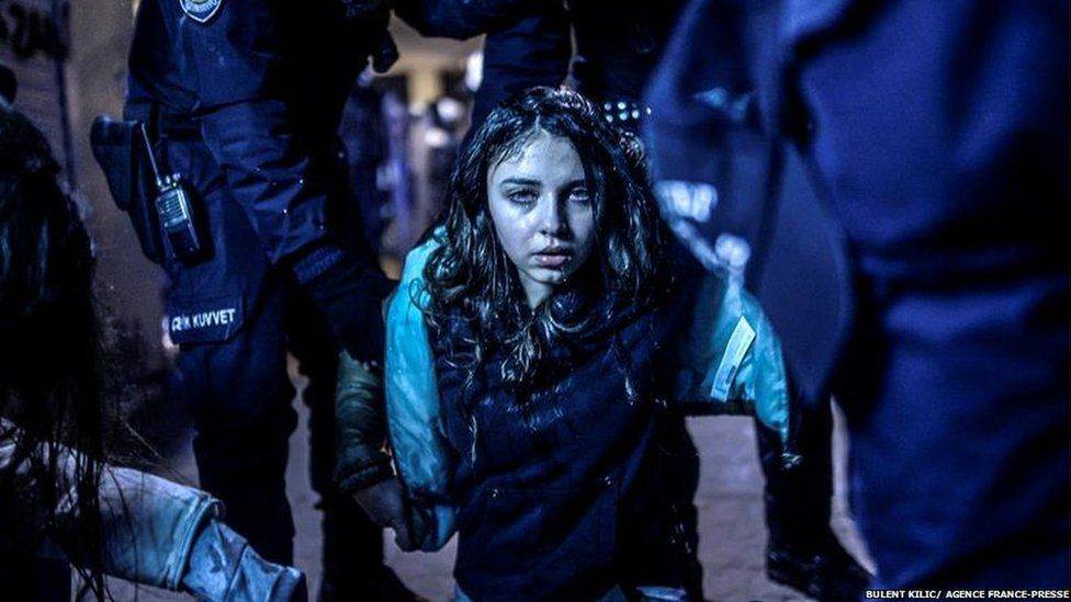 Turkish protestor