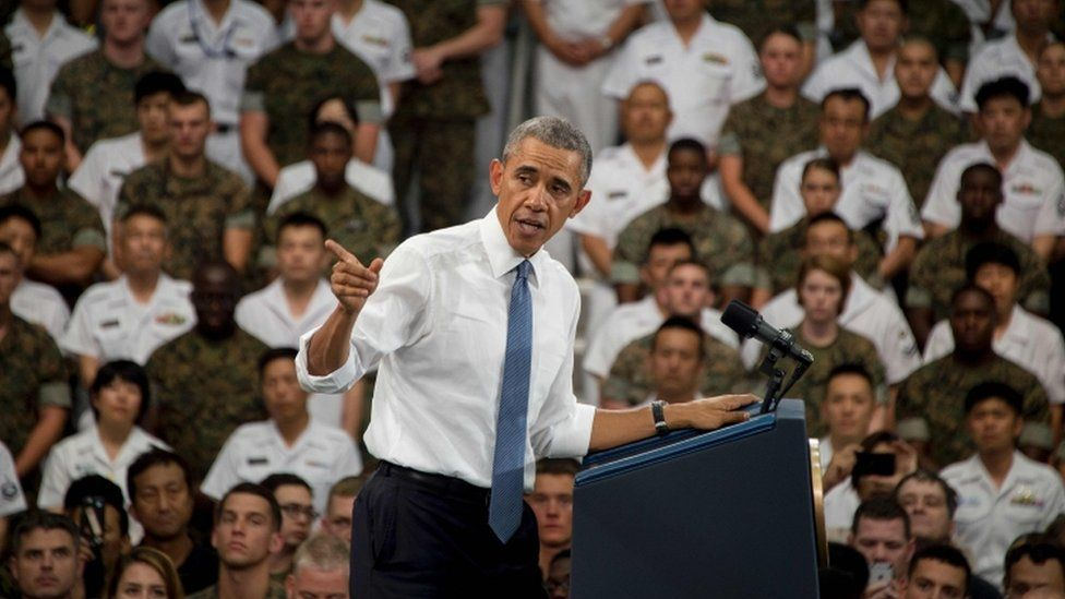 Barack Obama, 27 May, Iwakuni base