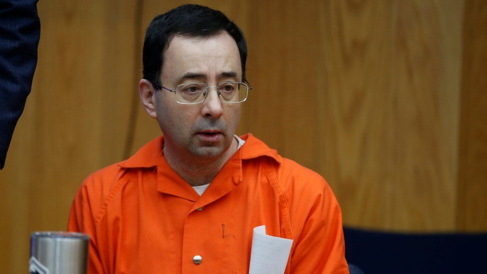 Larry Nassar in Eaton, County Circuit Court on 31 January 2018 in Charlotte, Michigan