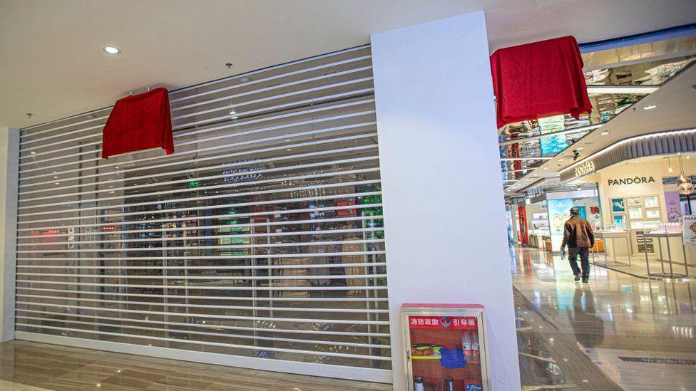 Closed H&M store in Xinjiang