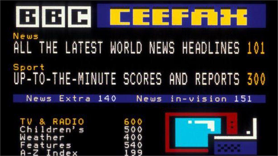 Ceefax screen