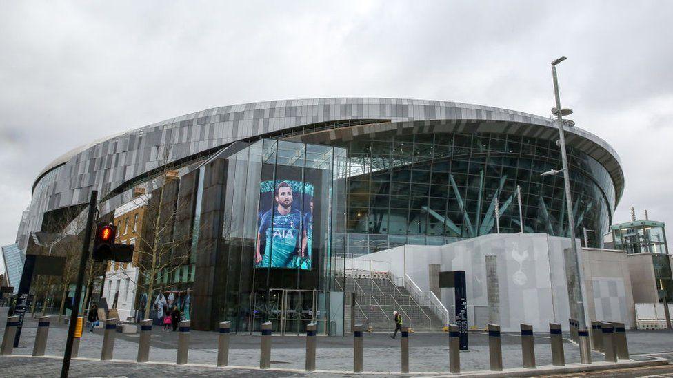 Tottenham's new stadium seen at the White Hart Lane