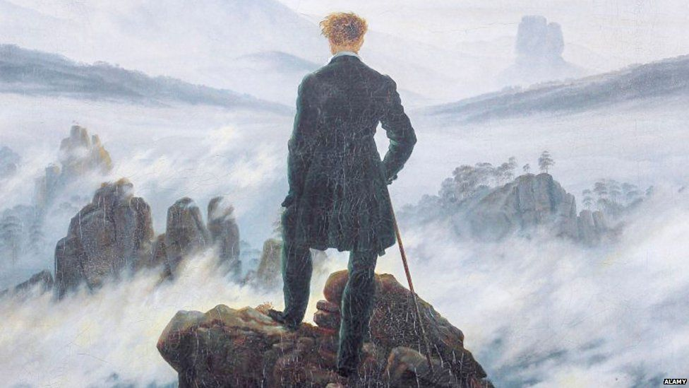 "Caspar David Friedrich: Wanderer in a sea of fog"""