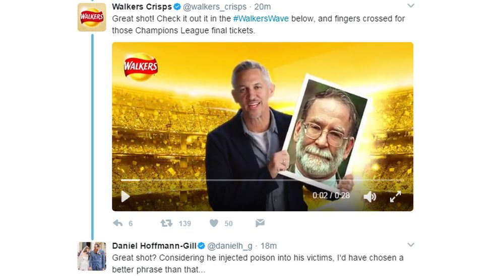 Walkers Crisps twitter video gone wrong