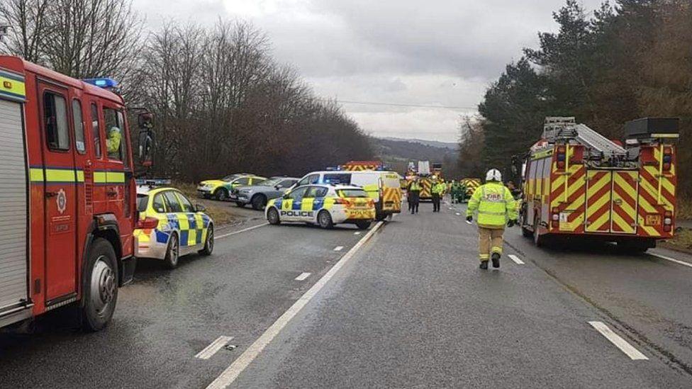 A picture of the crash scene