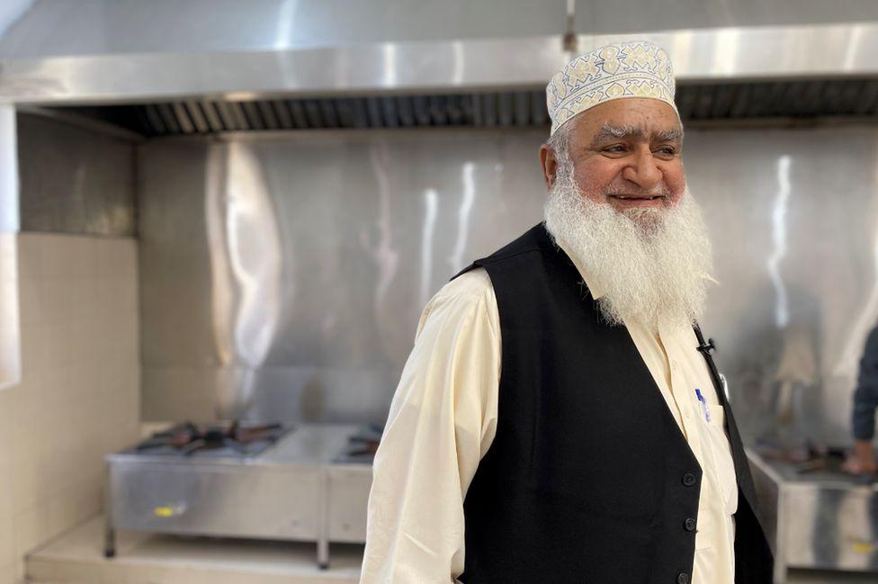 Haji Hanif in his kitchen