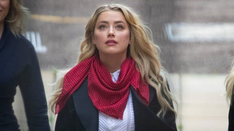 Amber Heard at London's High Court on 14 July