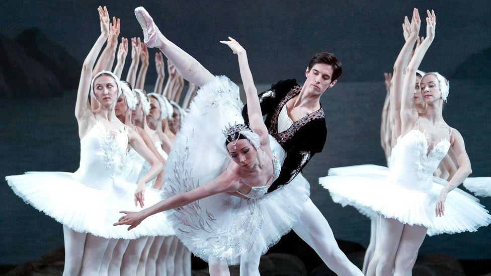 Xander Parish performing Swan Lake at the Royal Opera House with the Mariinsky Ballet