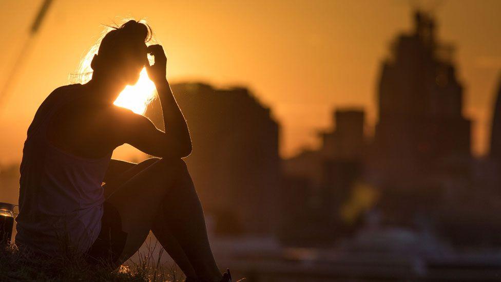 Woman in heatwave
