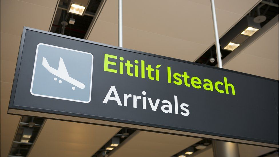 Arrivals board at Dublin Airport