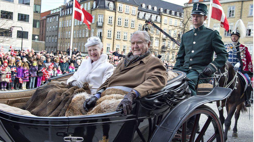 Denmark's Queen Margrethe and Prince Consort Henrik